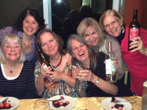 I think these women had a little TOO much fun when I visited their book group and discussed Julia's Chocolates...